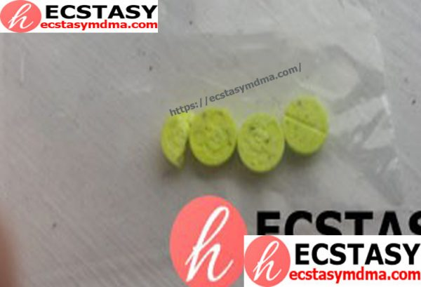 Yellow Mickey Mouse 2cb Hug Drug pills 20mg